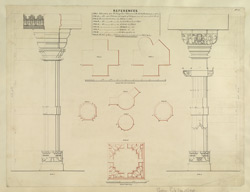 Plate 7. Plans and elevations of columns in temple of Nilkanth. Figs.1-9